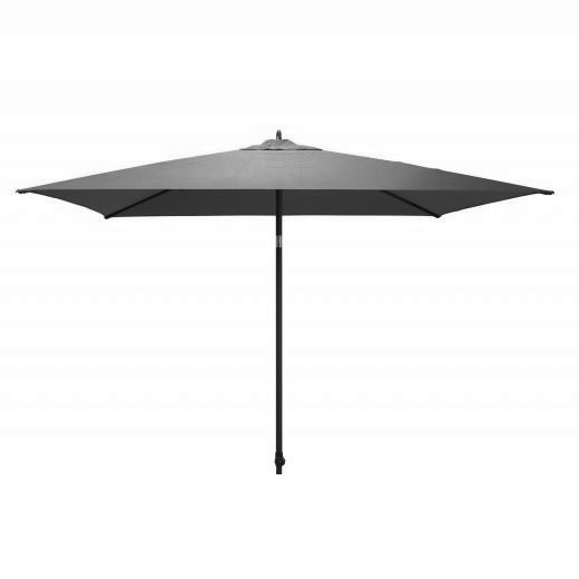 4 Seasons Azzurro Push Parasol 250x250cm - Charcoal