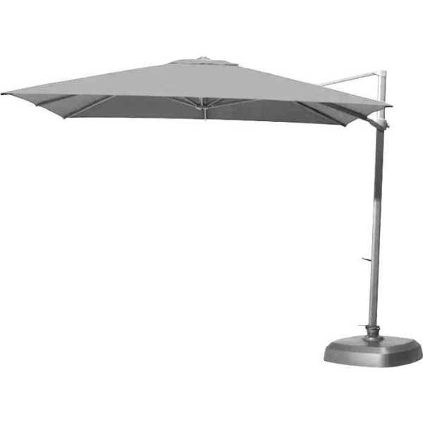 4 Seasons Siesta Parasol 3x3m - Mid Grey