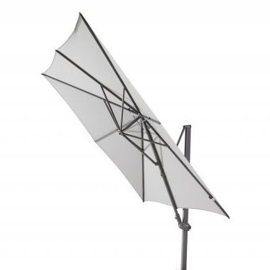 4 Seasons Siesta Parasol 3x3m - Mid Grey