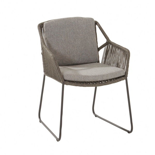 4 Seasons Accor Chair W/Cushions - Mid Grey