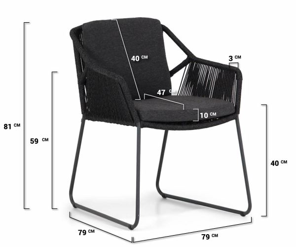4 Seasons Accor Cadeira C/Alm. - Antracite