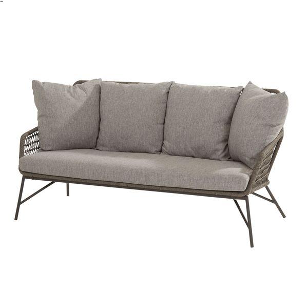 4 Seasons Babylon 2.5 Seaters Sofa Knotted W/Cush.- Mid Grey