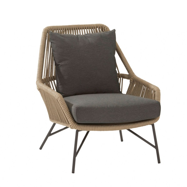 4 Seasons Ramblas Living Chair W/Cushions - Taupe
