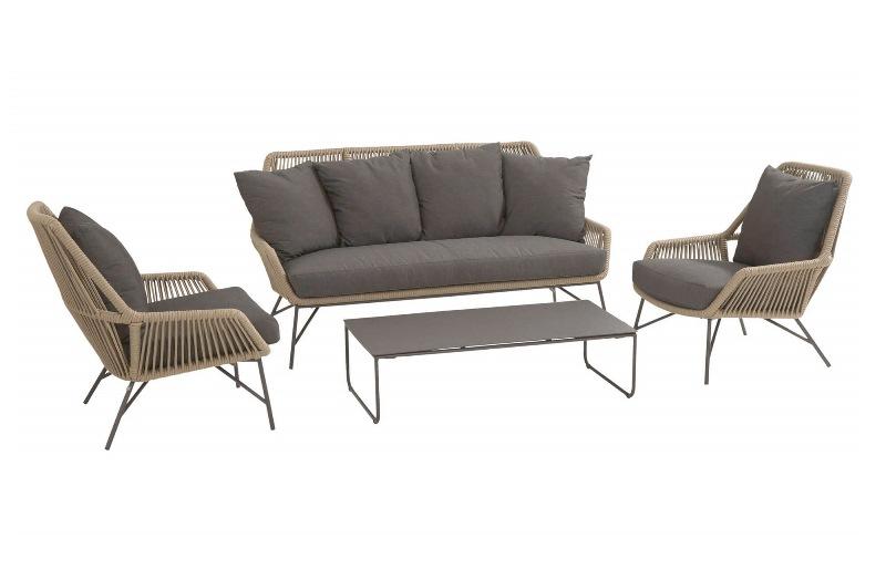 4 Seasons Ramblas 2.5 Seaters Sofa W/Cushions - Taupe