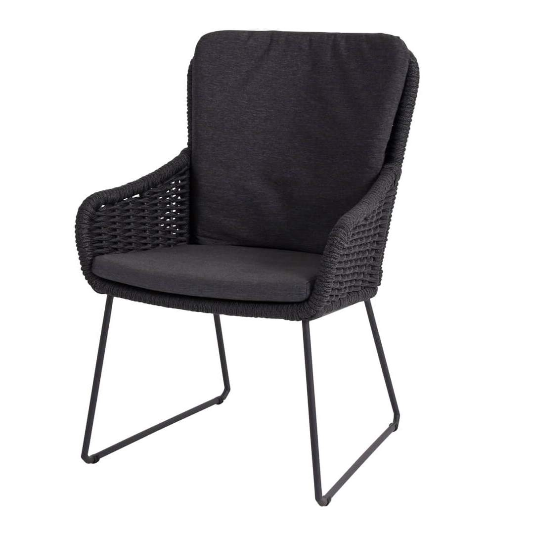 4 Seasons Wing Dining Chair W/Cushions - Anthracite