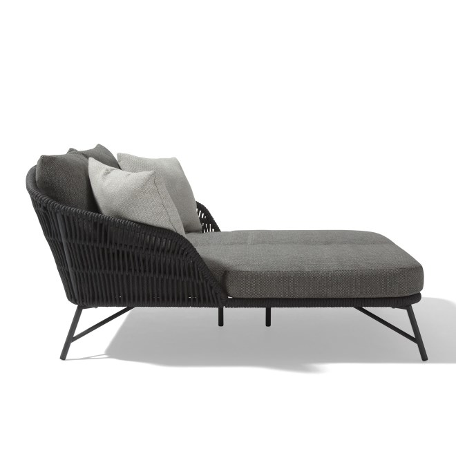4 Seasons Marbella Double Sunbed W/Cushions - Anthracite