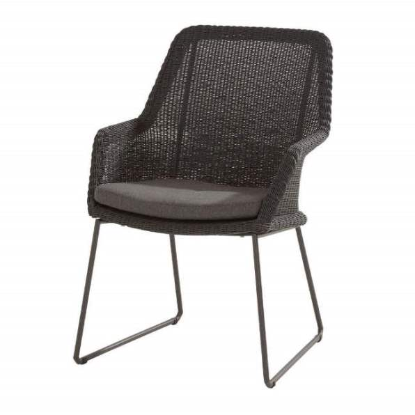 4 Seasons Samoa Dining Chair W/Cushions - Ecoloom Anthracite