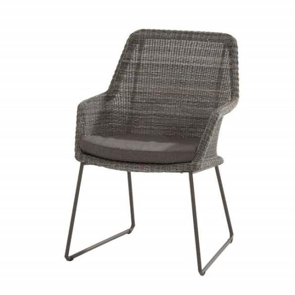 4 Seasons Samoa Dining Chair W/Cushions - Ecoloom Charcoal