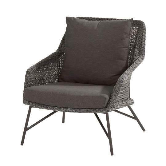 4 Seasons Samoa Living Chair W/Cushions - Ecoloom Charcoal