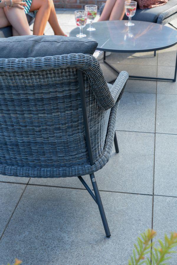 4 Seasons Samoa Living Chair W/Cushions - Ecoloom Charcoal