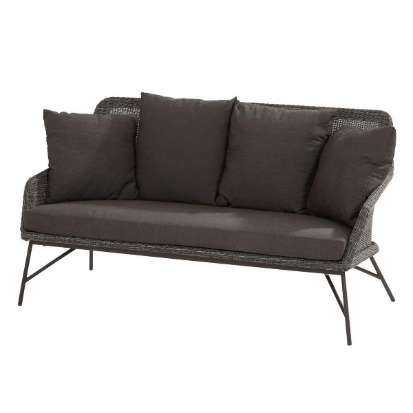 4 Seasons Samoa Sofa W/Cushions - Ecoloom Charcoal