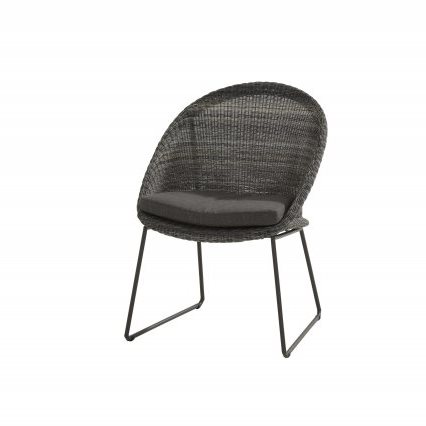 4 Seasons Hampton Dining Chair W/Cushions - Ecoloom Charcoal