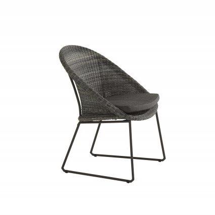 4 Seasons Hampton Cadeira C/Alm. - Ecoloom Charcoal