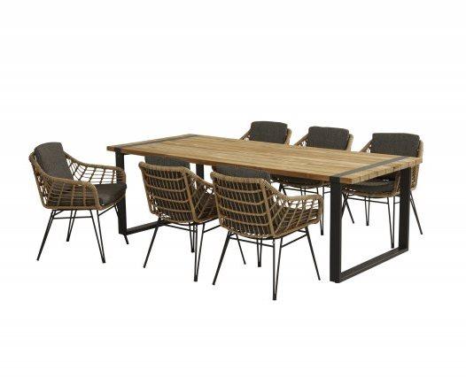 4 Seasons Cottage Dining Chair W/Cushions - Hara-Teak