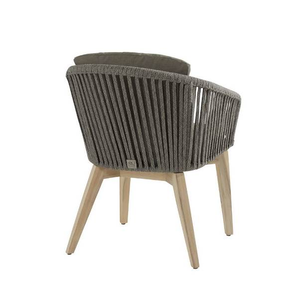 4 Seasons Santander Black Dining Chair w/Cushions - Rope