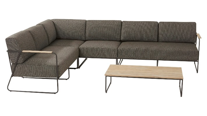 4 Seasons Coast Sofa Modular Esq. 2 Lug. C/Alm. - Antracite