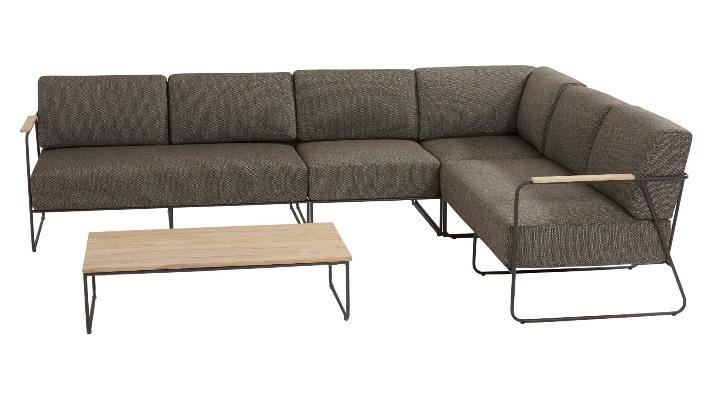 4 Seasons Coast Mod. Sofa 2 Seaters Left w/ Cushions - Anth.