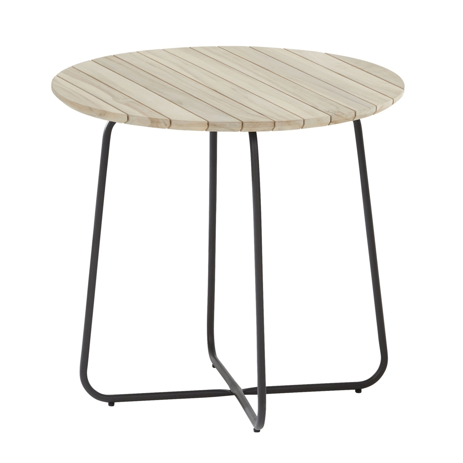 4 Seasons Axel Side Table ø45 - Alum./Teak