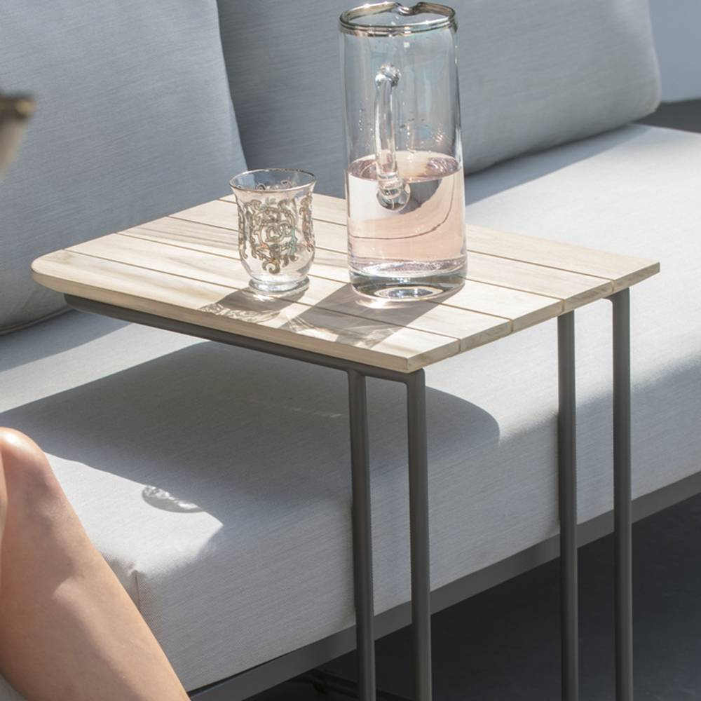 4 Seasons Axel Support Table 50x35 - Antracite/Teak