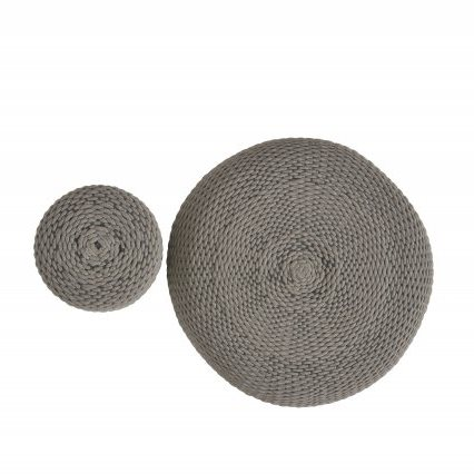 4 Seasons Muffin Pouf ø40 - M. Grey/Rope
