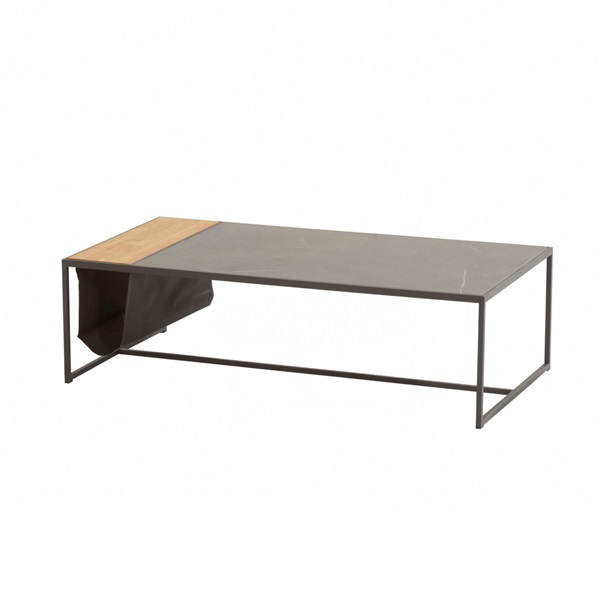 4 Seasons Atlas Coffee Table 122x62 - Marble/ Antracite