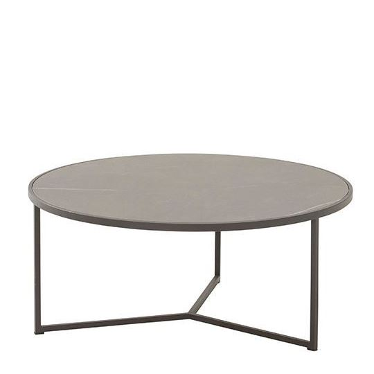 4 Seasons Atlas Coffee Table Ø80cm - Marble/ Antracite
