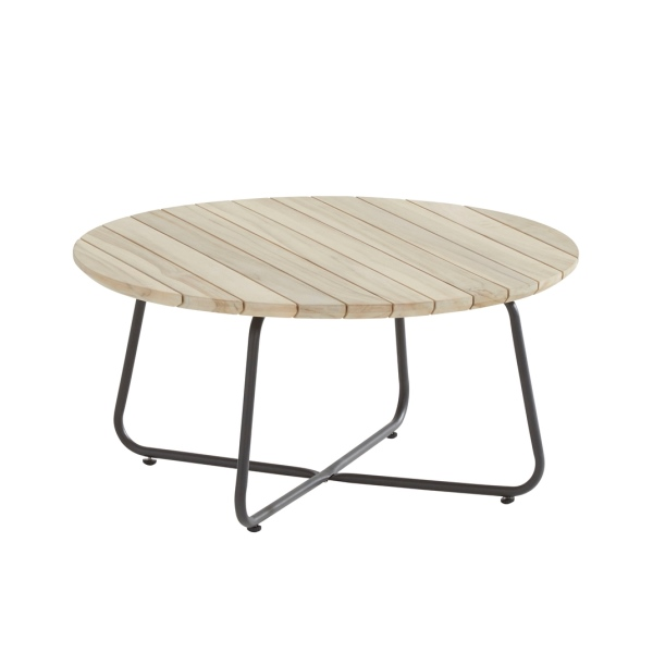 4 Seasons Axel Coffee Table ø90cm - Antracite/Teak