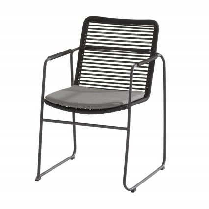 Taste Elba Dining Chair With Cushion - Antracite Rope