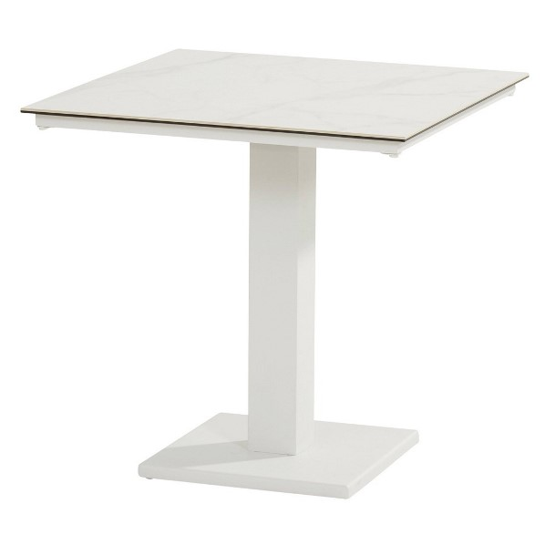 Taste Titan Table 75x75 Ceramic - White