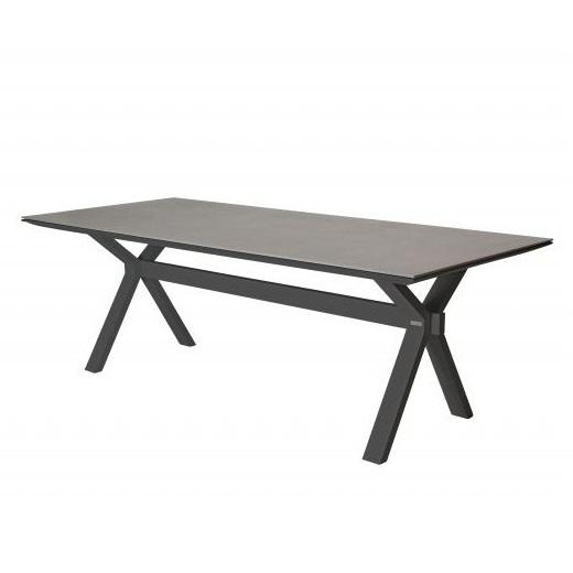 Taste Vesper Table 220x95 Glass Top - Matt Carbon