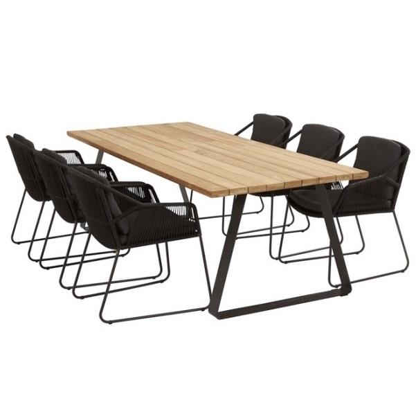 Taste Basso Table 300x100 - Teak / Antracite