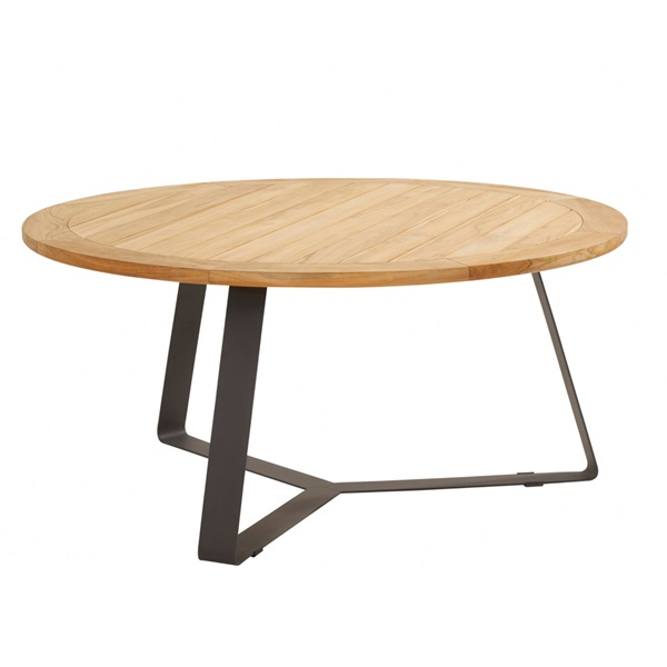Taste Basso Teak Table ø160 Antracite Legs