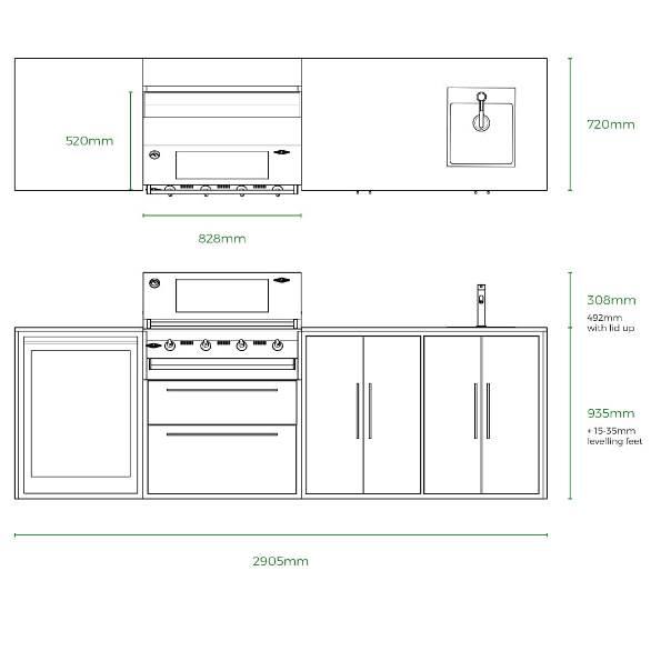 Profresco Signature 4 Quatro Cozinha - Antracite