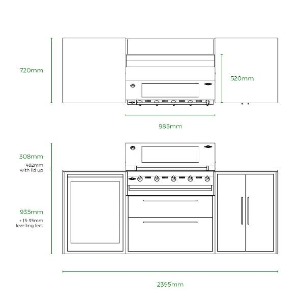 Profresco Signature 5 Trio Cozinha - Antracite