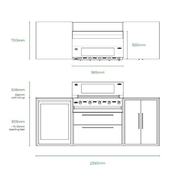 Beefeater Profresco Signature 5 Trio Kitchen - Anthracite