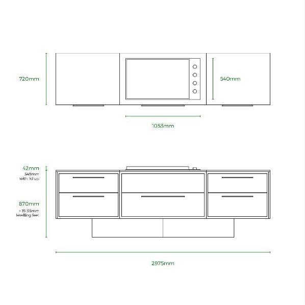 Profresco Proline 6 Aero Cozinha - Antracite