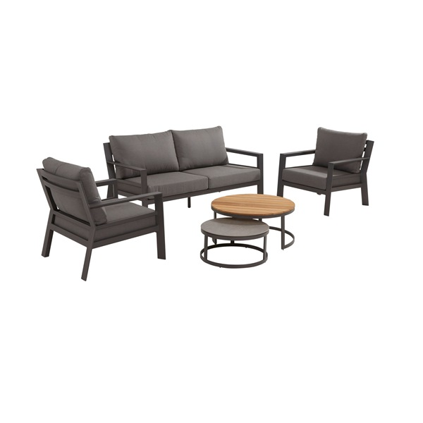 Taste Stonic Sofa Set w/Coffee Tables Teka /Ceram.- M.Carbon