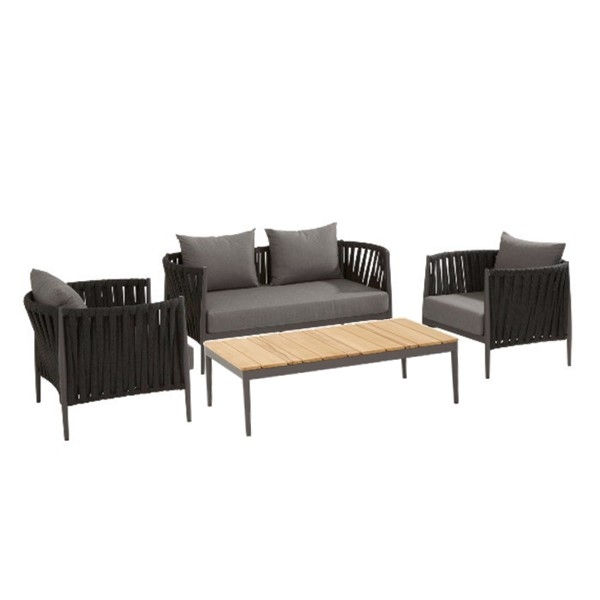 Taste Cantori Sofa Set w/ Coffee Table - Matt Carbon