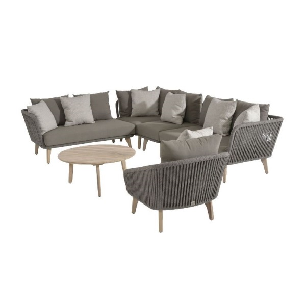 4 Seasons Santander Modular Sofa Set - Rope/Teak