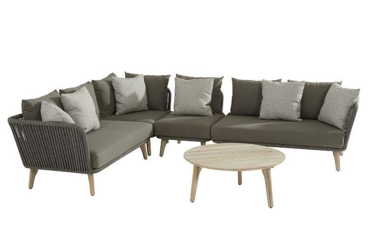 4 Seasons Santander Modular Sofa Set - Rope/Teak