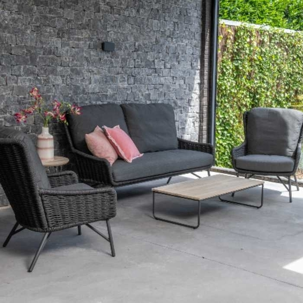 4 Seasons Wing Sofa Set W/Cushions - Anthracite