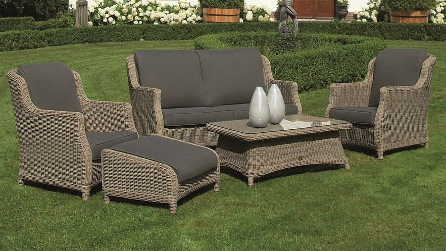 4 Seasons Brighton Sofa Set w/ cushions - Pure