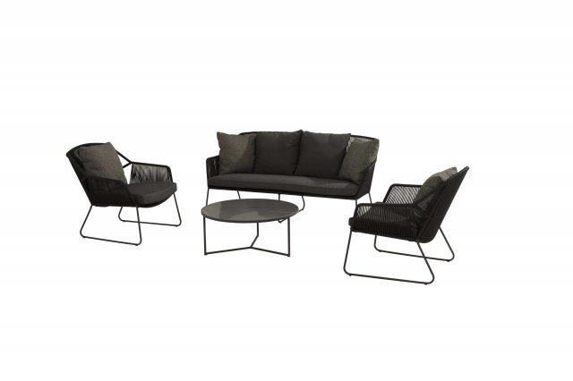4 Seasons Accor Sofa Set W/Cushions - Anthracite