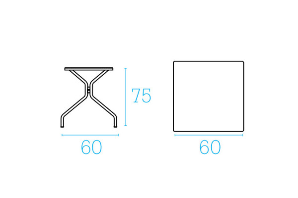 Emu Set Cambi Table 60x60 + 2x Rondas - Antracite