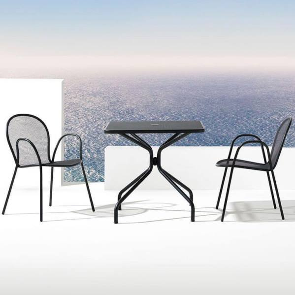Emu Set Cambi Table 80x80 + 2x Rondas - Antracite