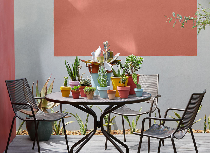 Emu Set Cambi Table ø80 + 2x Alas - Antracite