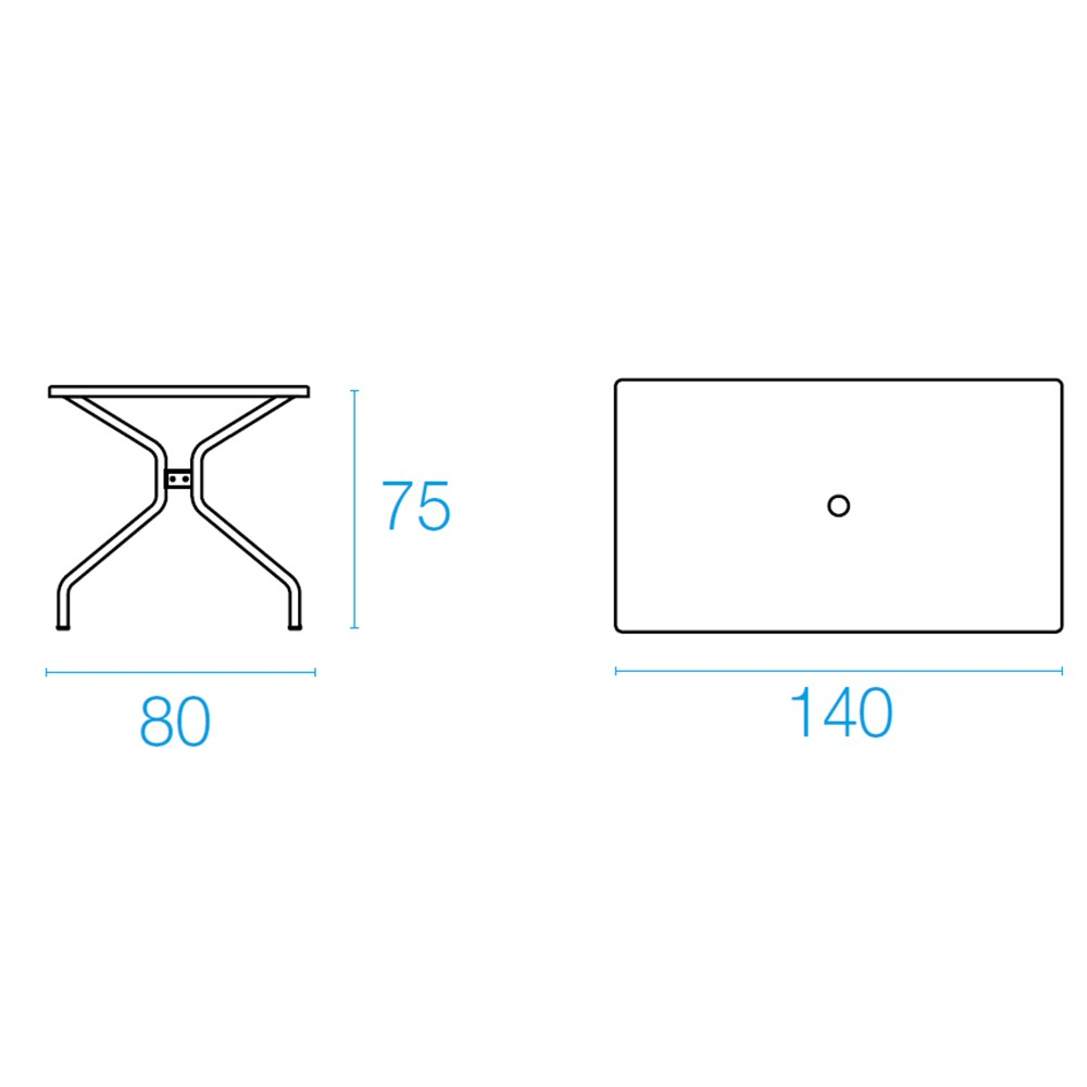 Emu Set Cambi Mesa 140x80 + 4x Rondas - Ferro Antigo