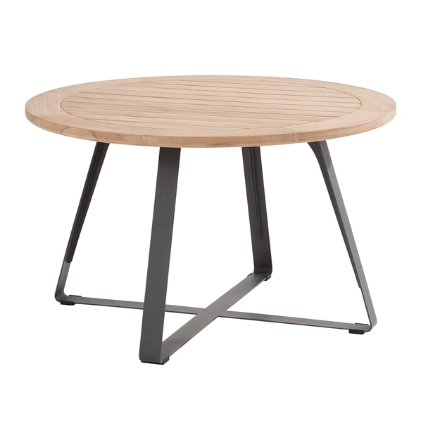 Taste Basso Teak Table ø130 Antracite Legs
