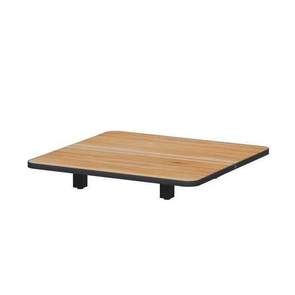4 Seasons Arcade Coffee Table 90x90 - Aluminium/Teak