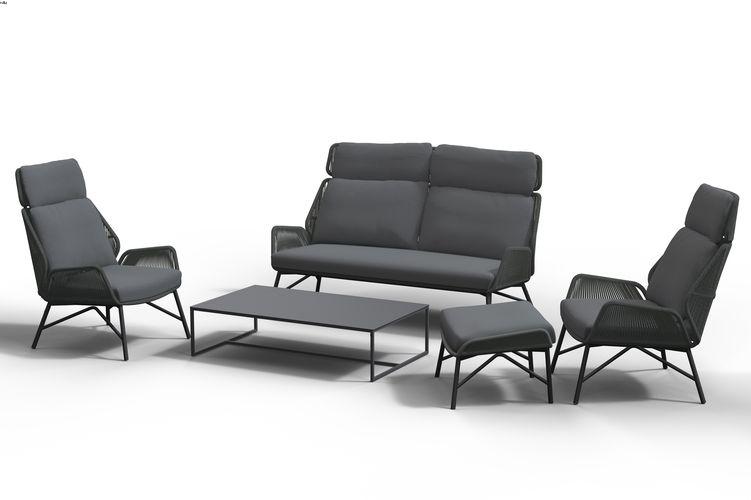 4 Seasons Carthago Living Chair w/Cushions - Platinum